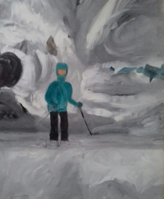 Pauline à la neige
