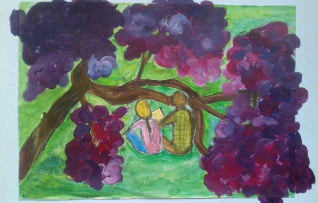 Cabane fleurie à 2